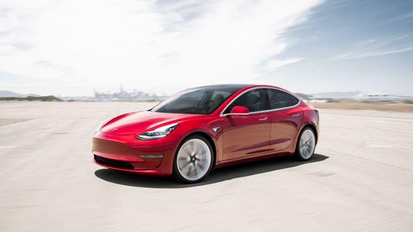 Tesla Model 3 på Sverigebesök