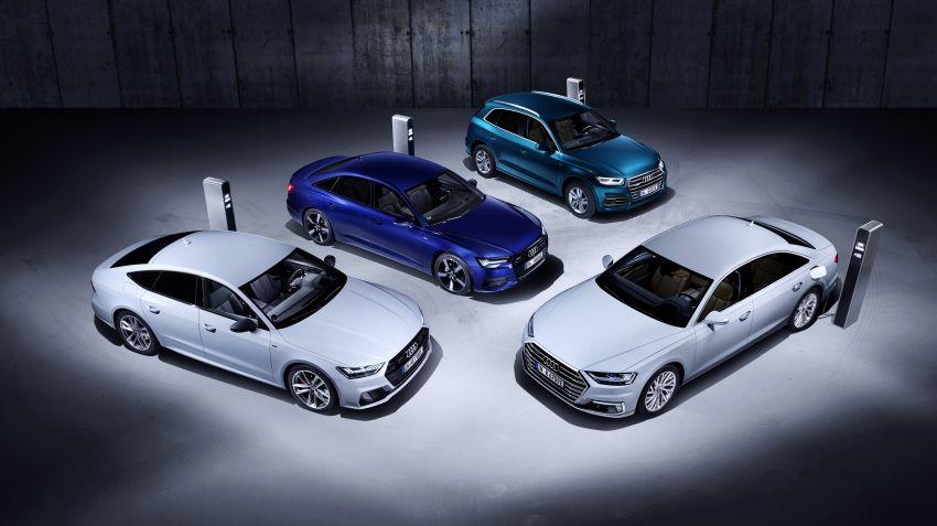 Audi lanserar nya plug-in hybrider